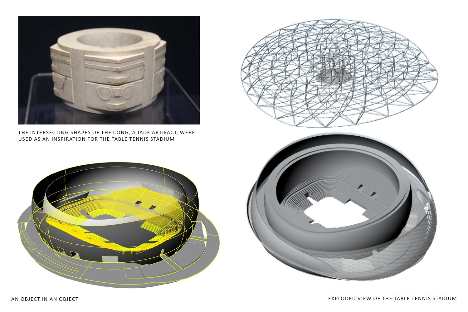 Exploded view of the Table Tennis Stadium © Archi-Tectonics}