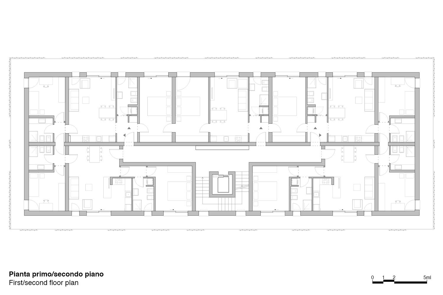 First/second floor plan Antonio Iascone & Partners}