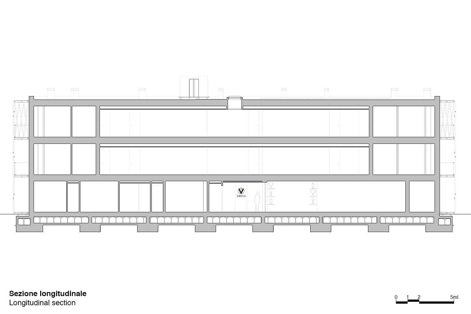 Longitudinal Section Antonio Iascone & Partners}