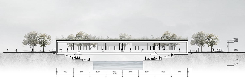 Elevation 2 © JADRIC ARCHITEKTUR ZT GmbH & TONGJI ARCHITECTURAL DESIGN AND RESEARCH INSTITUTE-min}