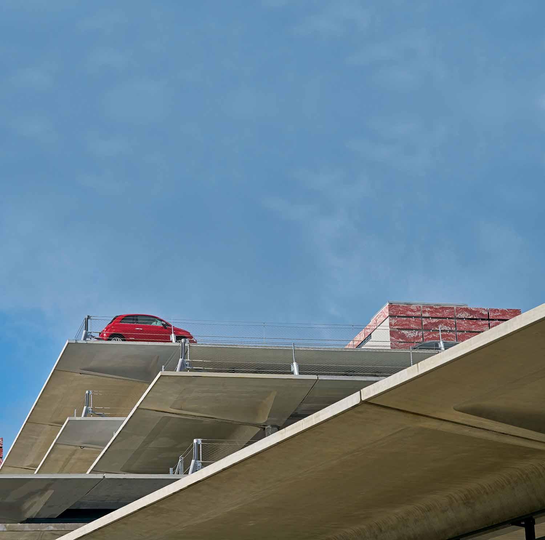The concrete floors of the car park AREP / Photographer: Didier Boy de la Tour