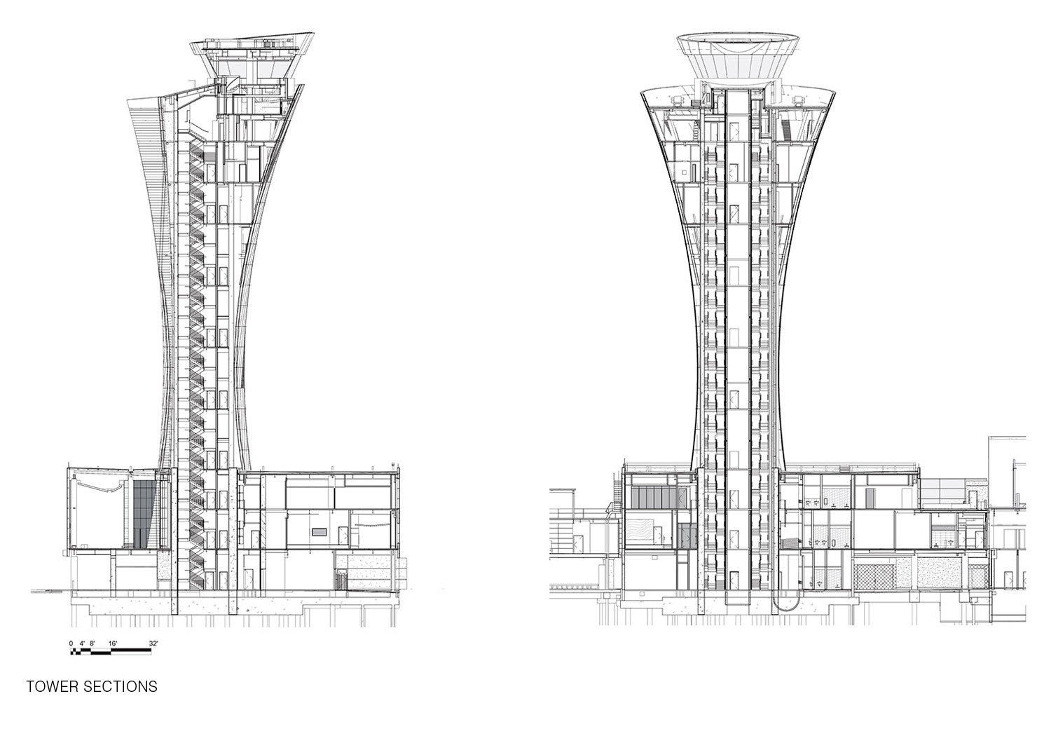 Tower Sections Fentress Architects}