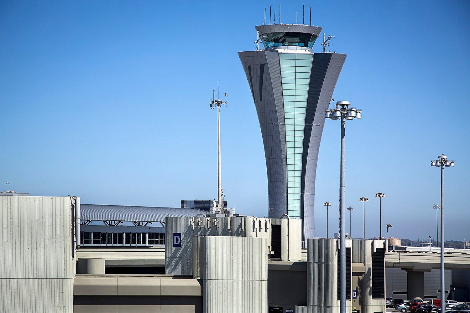 Airside view of the tower from Terminal 2 © John Swain