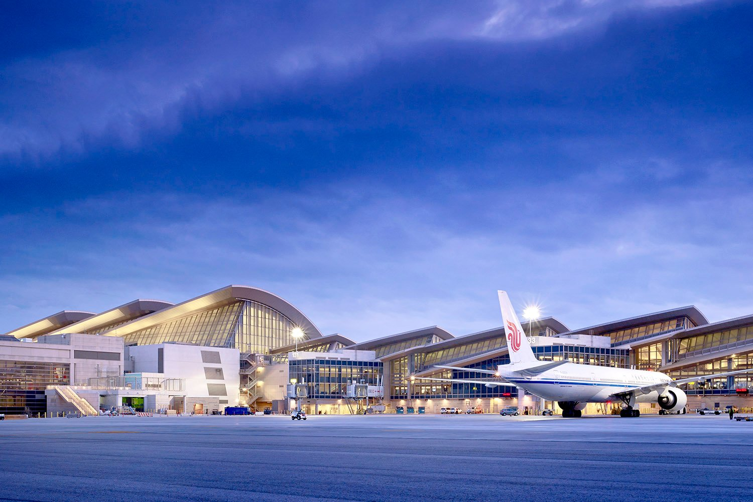 Airside view of the terminal's North Concourse Nick Merrick © Hedrich Blessing