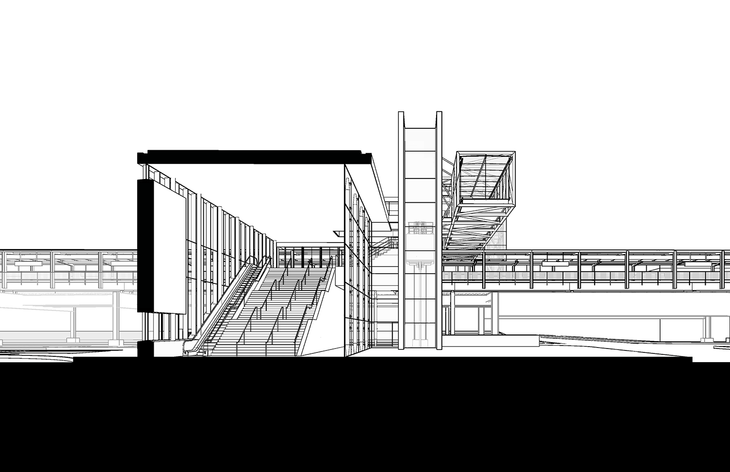 Section perspective from South Perkins+Will}