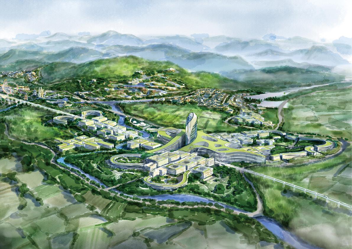 10.RENDERING OF LONGQUANSHAN AREA Shanghai Tianhua Architectural Design Co., Ltd.}