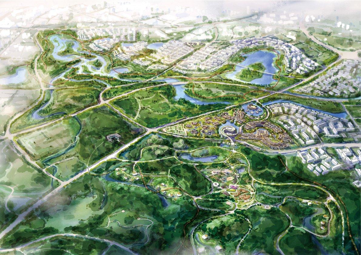 RENDERING OF BEIHU AREA Shanghai Tianhua Architectural Design Co., Ltd.