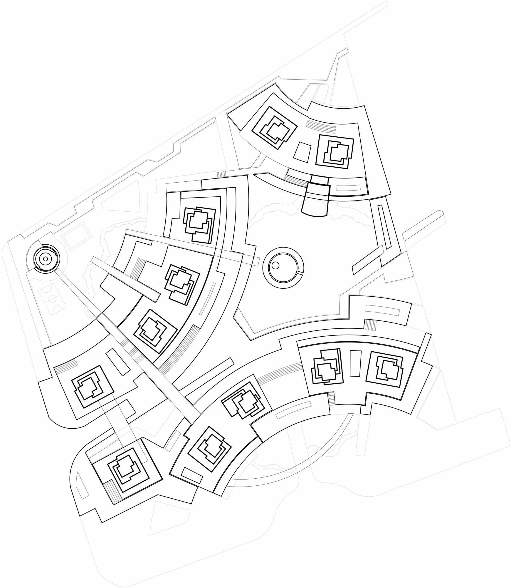 Crystal Towers keyplan Studio Marco Piva}