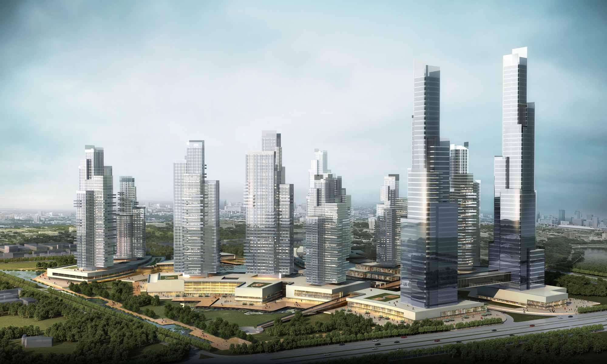 Crystal Towers Masterplan_Render Studio Marco Piva