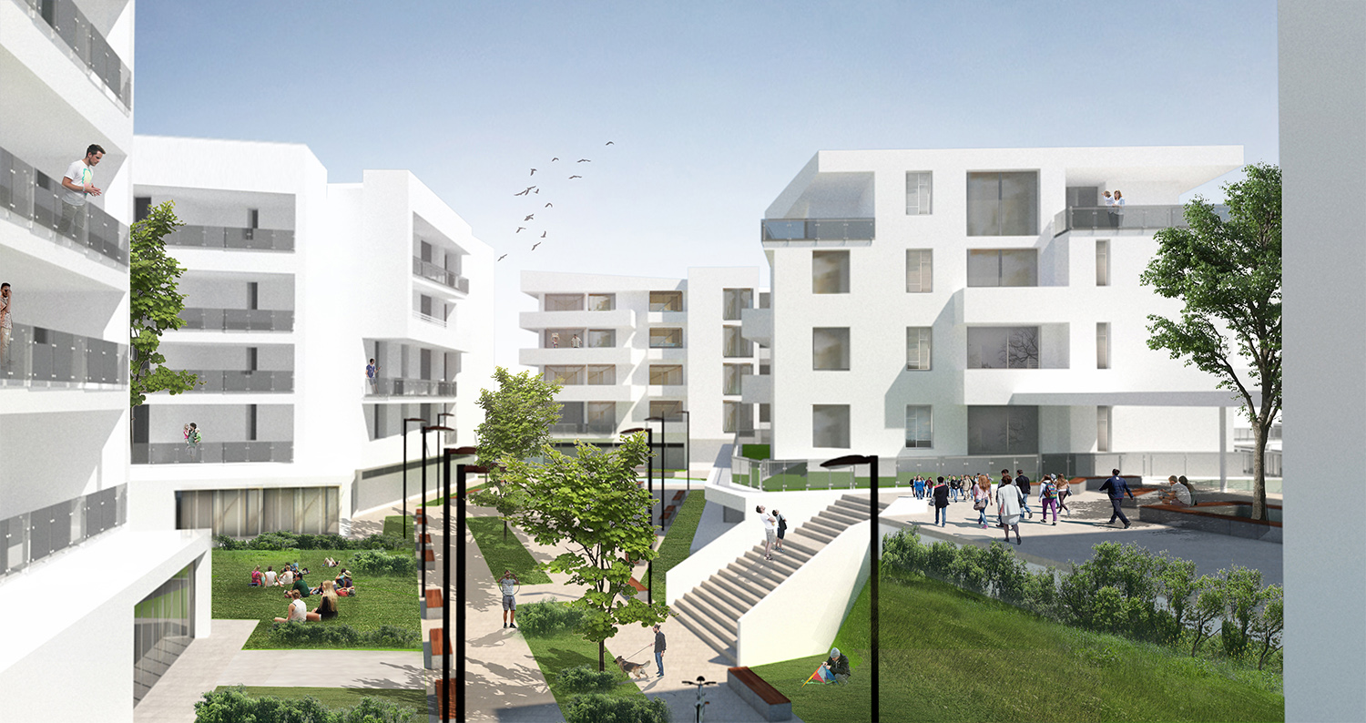Render_Esterni_Percorso pedonale photo © 2019 by GBA Studio srl / Gianluca Brini - Architetto Bologna - Via Andrea Costa 202/2 http://www.gbastudio.it/