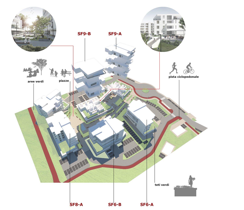 Schema_Individuazione edifici e aree tematiche photo © 2019 by GBA Studio srl / Gianluca Brini - Architetto Bologna - Via Andrea Costa 202/2 http://www.gbastudio.it/}