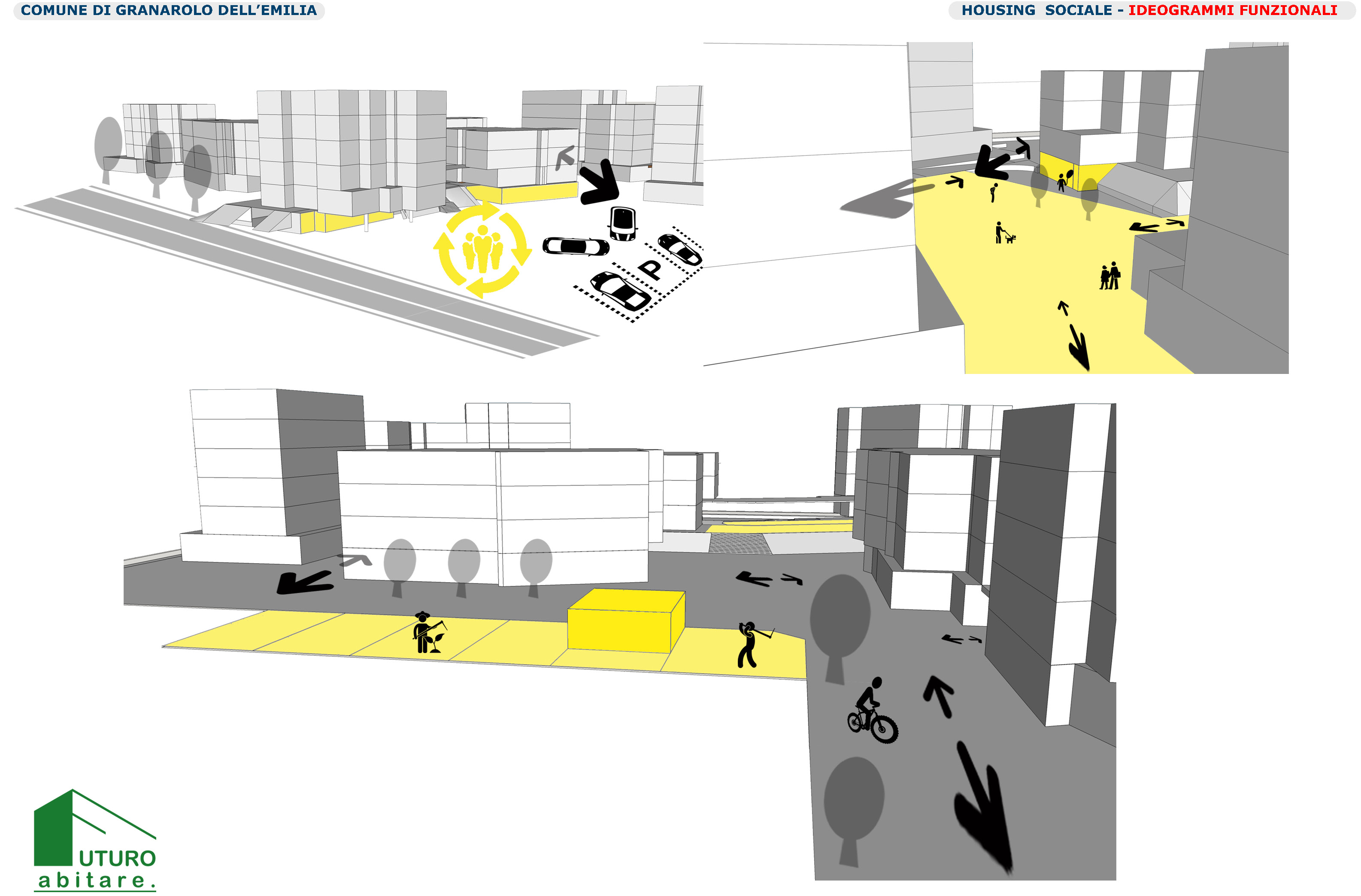 Schema_Ideogrammi funzionali_Studio preliminare photo © 2019 by GBA Studio srl / Gianluca Brini - Architetto Bologna - Via Andrea Costa 202/2 http://www.gbastudio.it/}