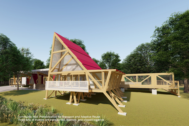 Community Hall: Prefabrication for Transport and Adaptive Reuse University of Arkansas Community Design Center