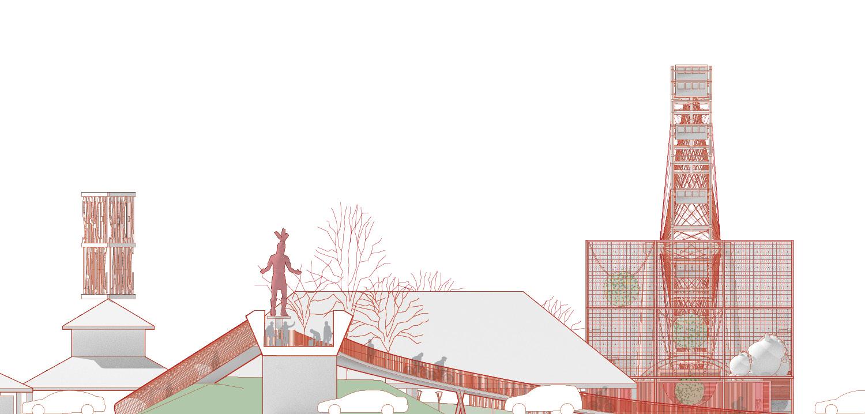 South Elevation University of Arkansas Community Design Center}