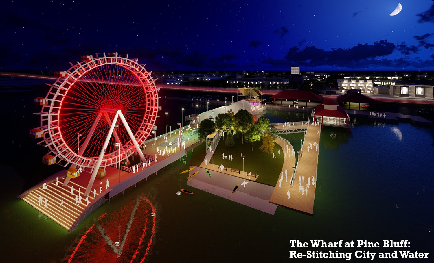 The Wharf at Pine Bluff: Re-Stitching City and Water University of Arkansas Community Design Center