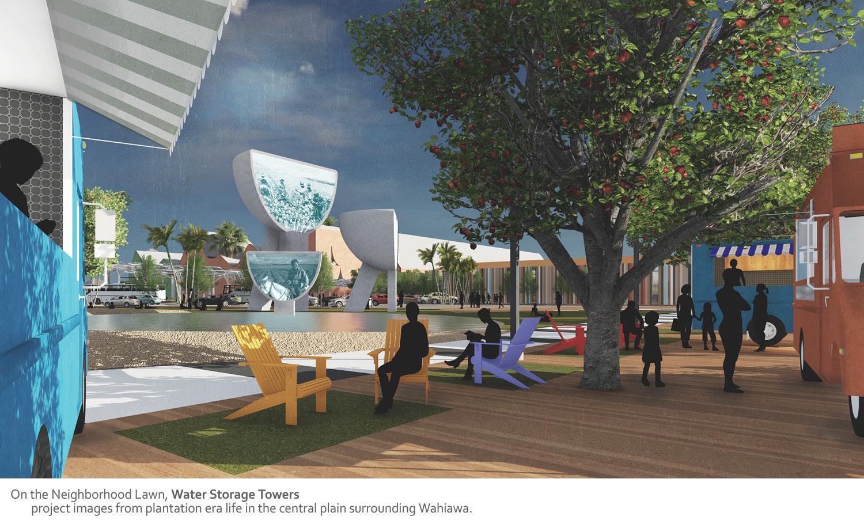 On the Neighborhood Lawn, Water Storage Towers University of Arkansas Community Design Center