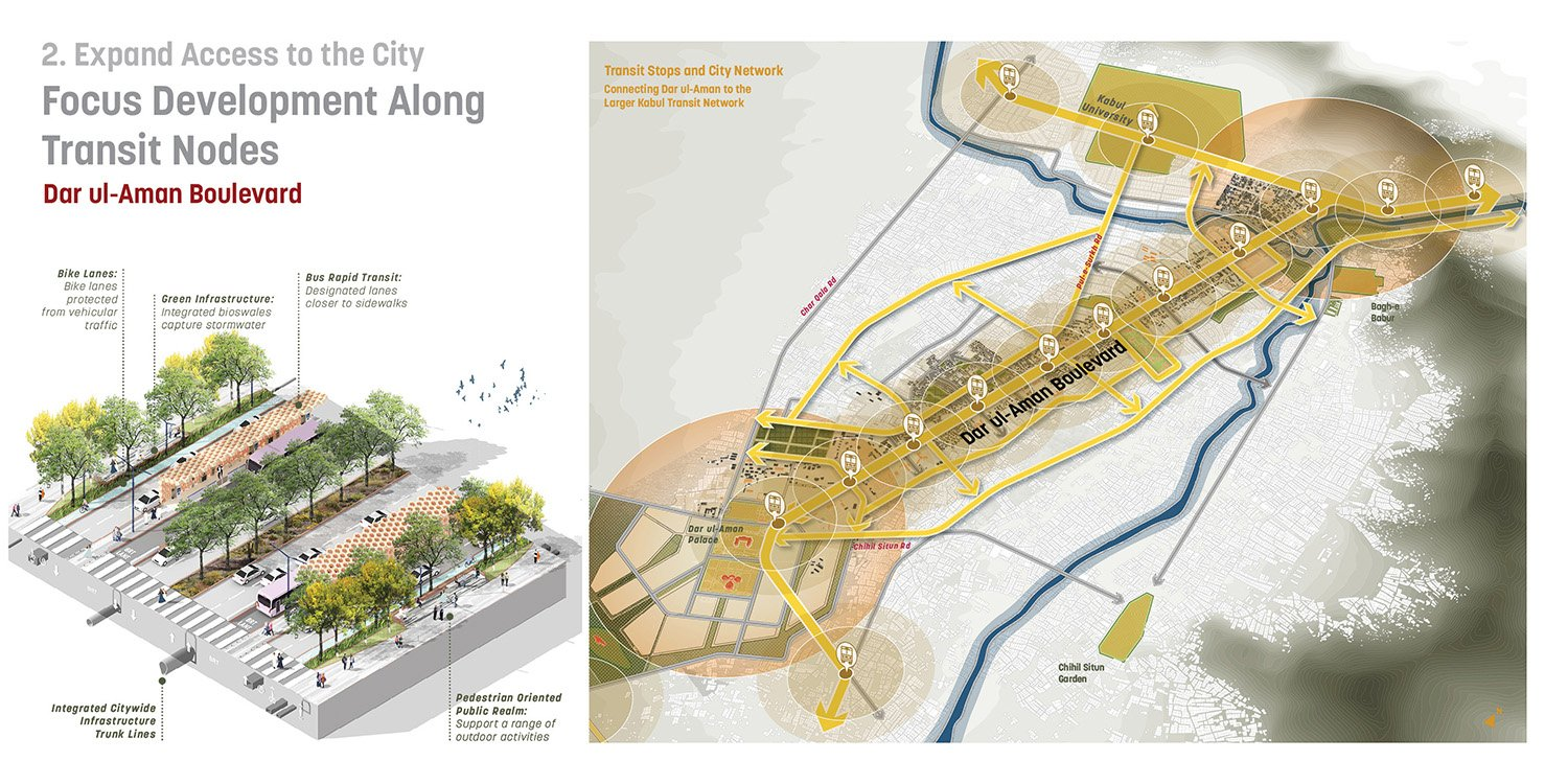 Development Nodes organized around transit stations propose specific programmatic and public realm strategies that create distinct regeneration opportunities along the Boulevard. Sasaki