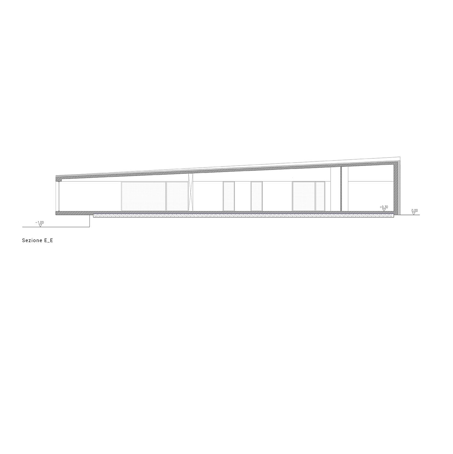 Sezione E-E Arch. Salvatore Terranova - Ing. Giorgia Testa}