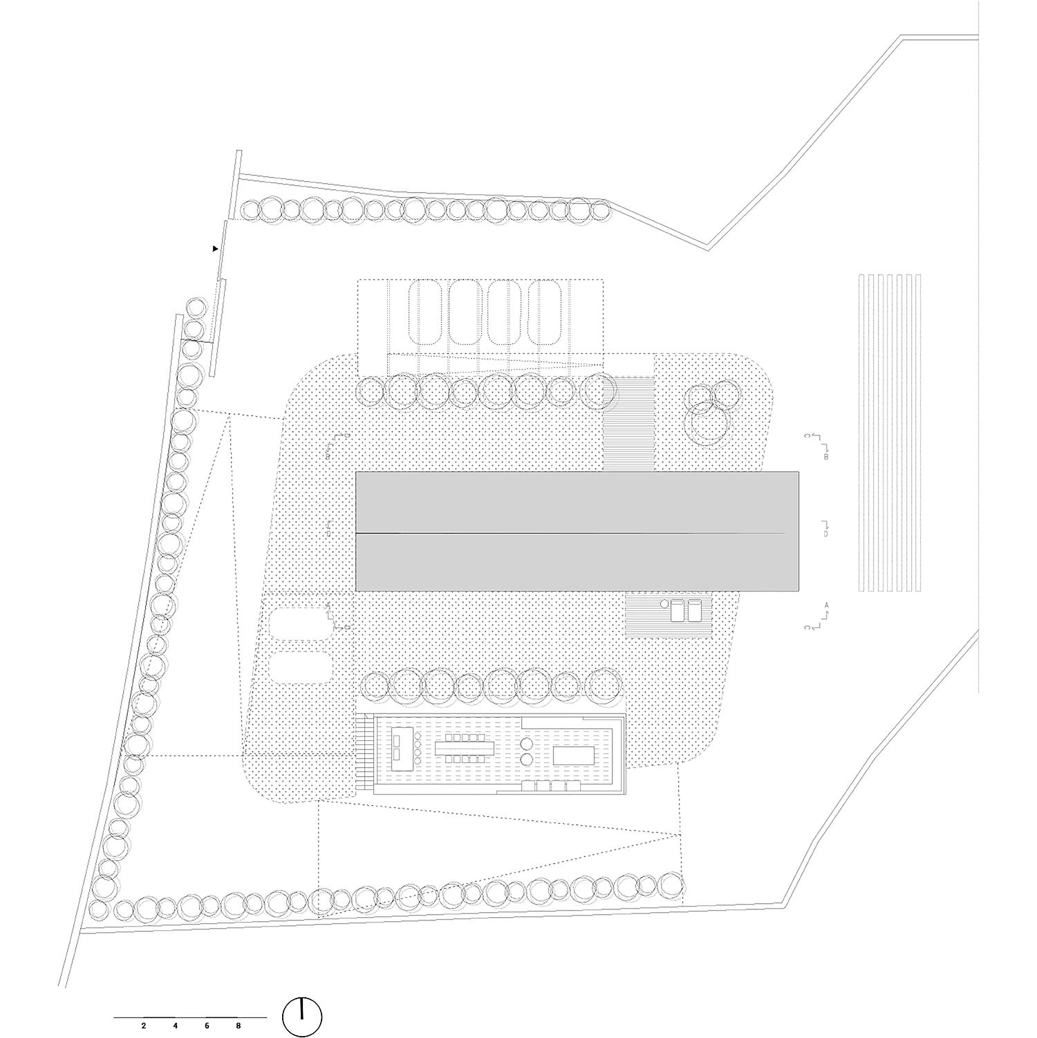 pianta copertura con sistemazione esterna Arch. Salvatore Terranova - Ing. Giorgia Testa}