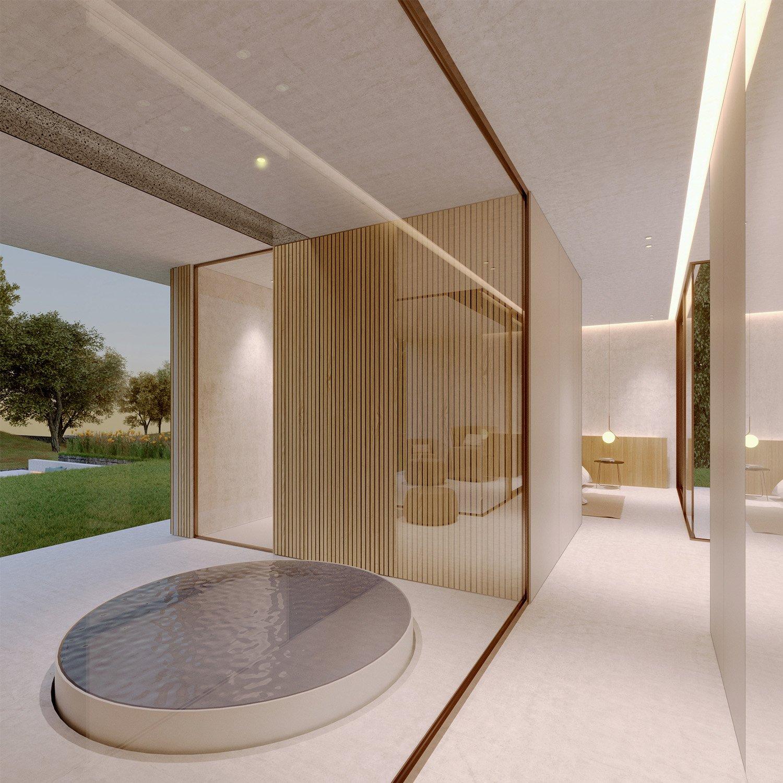 Area piscina idro esterna della stanza padronale Arch. Salvatore Terranova