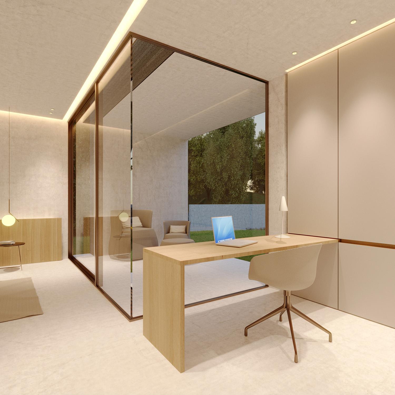 Area studio/office privato della stanza padronale Arch. Salvatore Terranova