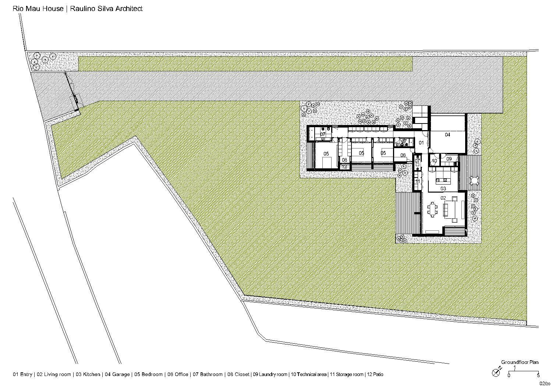 Groundfloor plan Raulino Silva Architect}