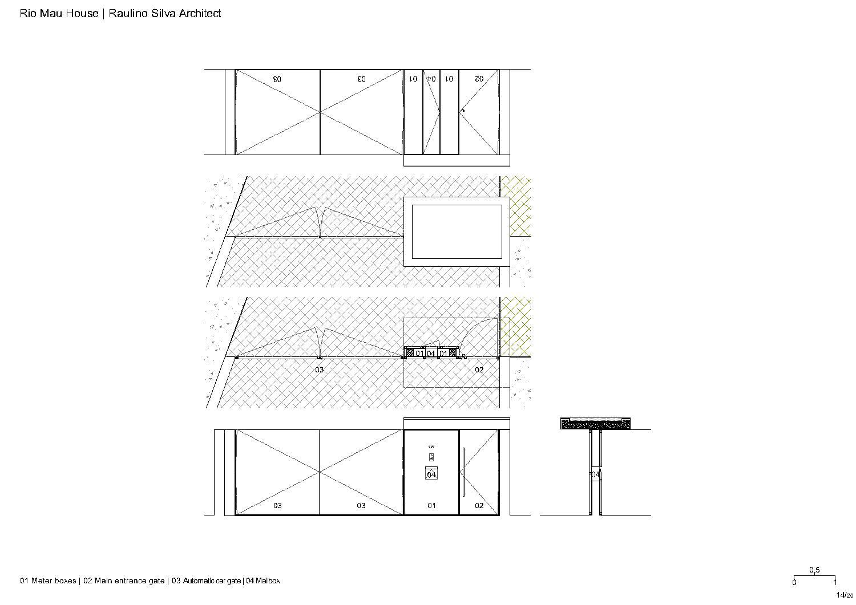 Entry gates Raulino Silva Architect}