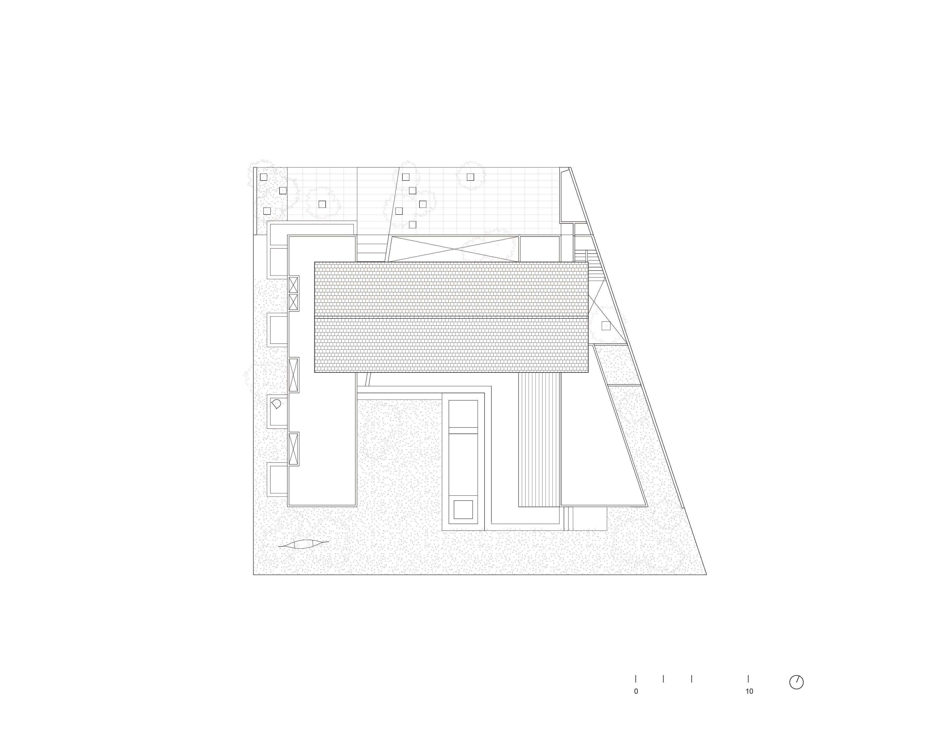 Roof Plan Bernardo Quinzaños, Ignacio Urquiza, Centro de Colaboración Arquitectónica}