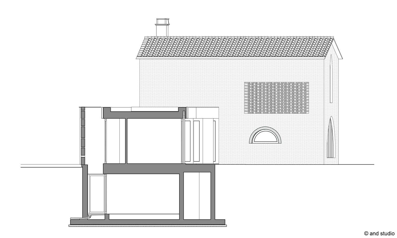 sezione trasversale and studio}