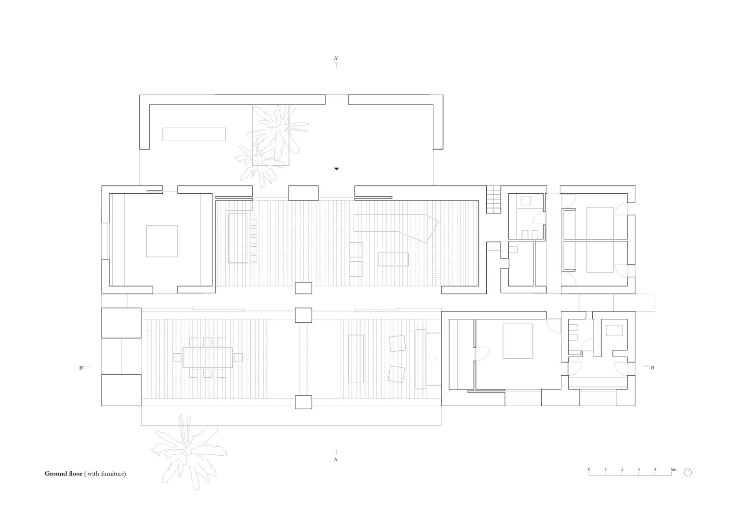 Plan ground floor with furniture MORQ}