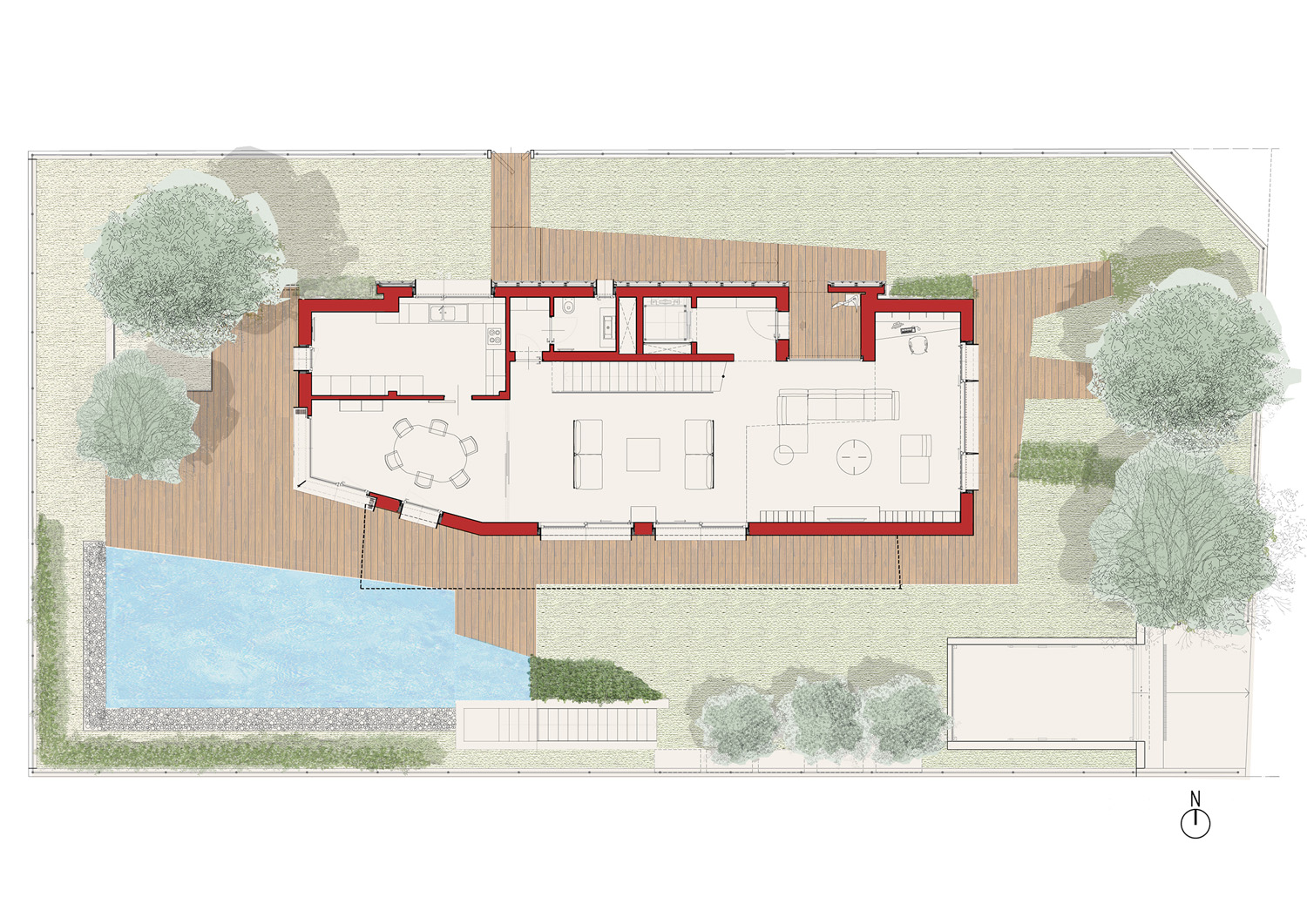 ground floor plan angus fiori architects}