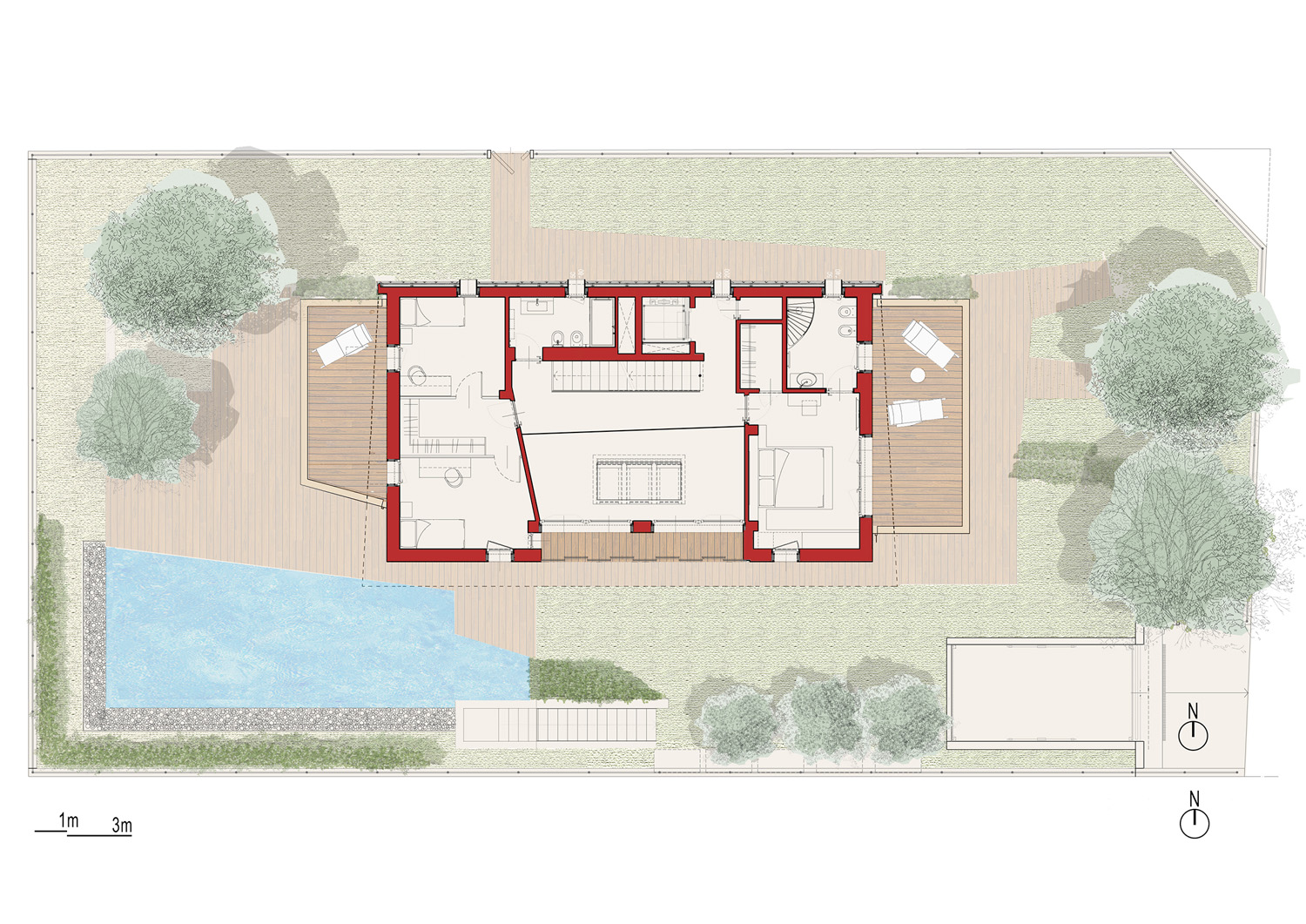 first floor plan angus fiori architects}