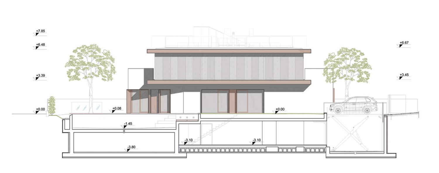 south elevation angus fiori architects}