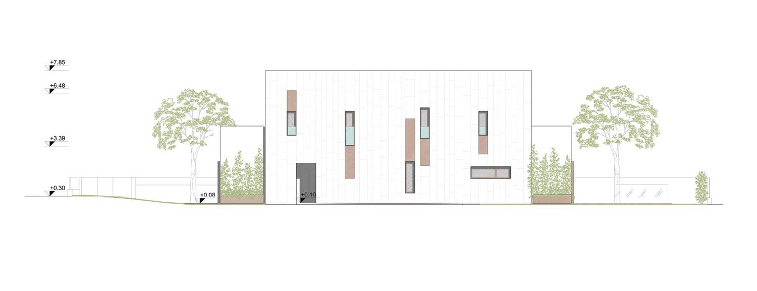 north elevation angus fiori architects}