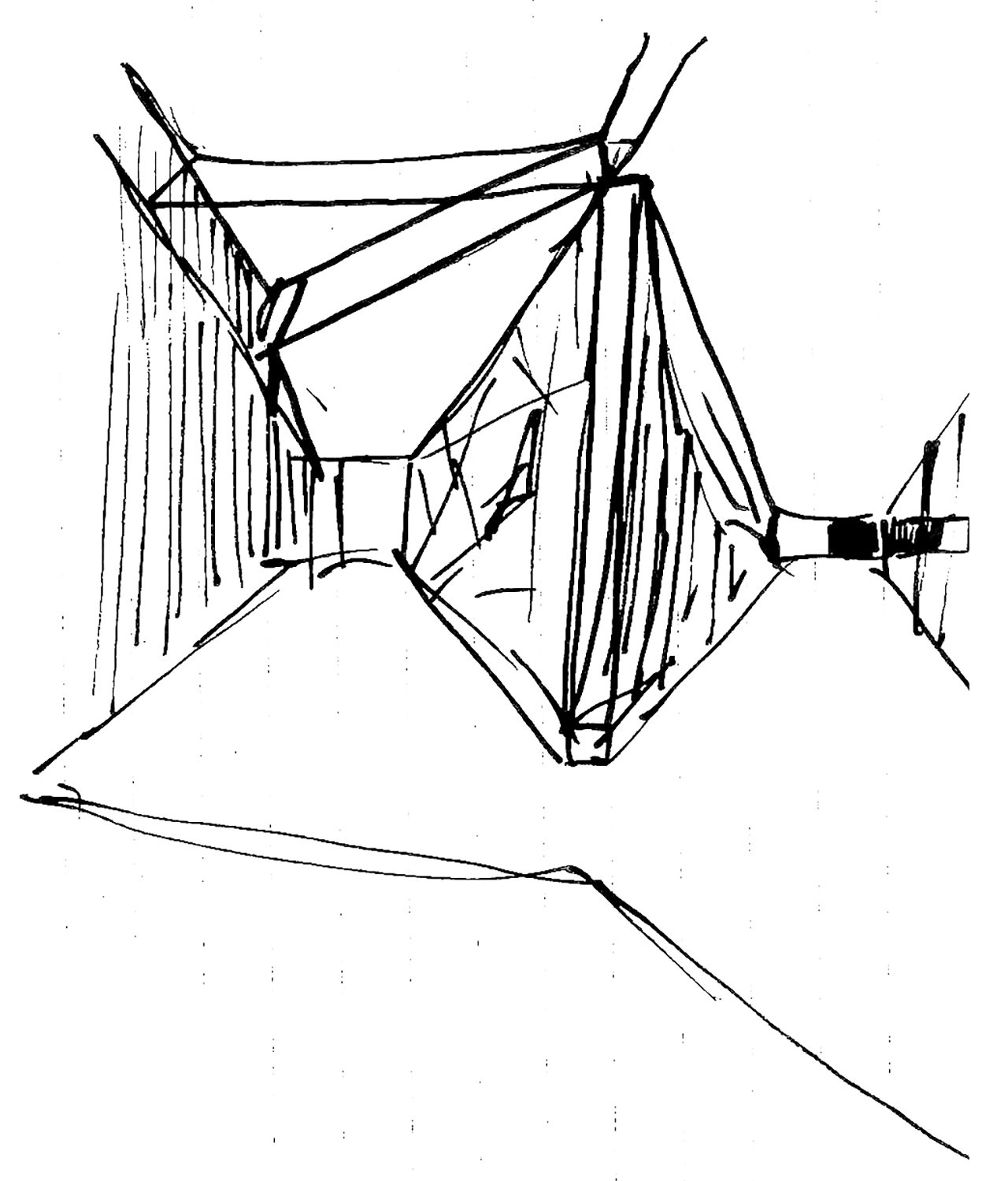 Sketch of the stereoscopic view of the spaces 3ndy Studio}