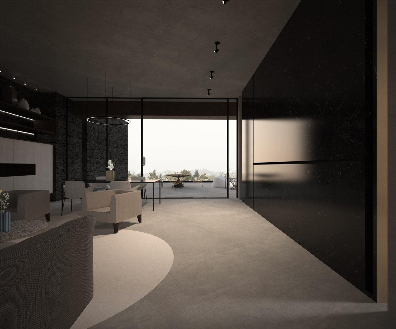 Rendering-Living Claudio Grasso & Federica Miranda Architects
