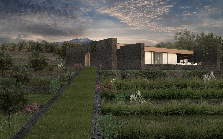 Rendering-Vista Sud-Ovest Claudio Grasso & Federica Miranda Architects