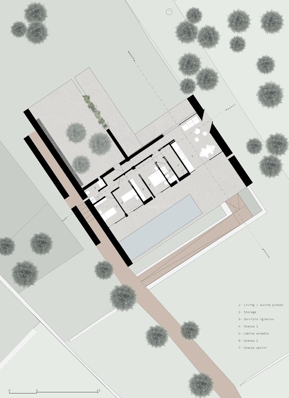 Pianta Piano Terra Claudio Grasso & Federica Miranda Architects}
