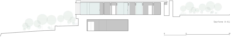 Sezione A-A' Claudio Grasso & Federica Miranda Architects}