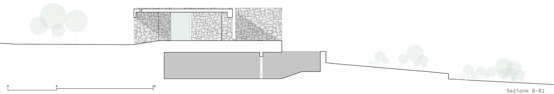 Sezione B-B' Claudio Grasso & Federica Miranda Architects}