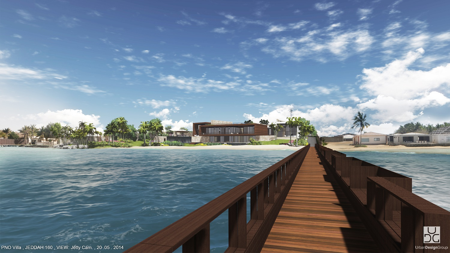 Villa view from the jetty UDG team}