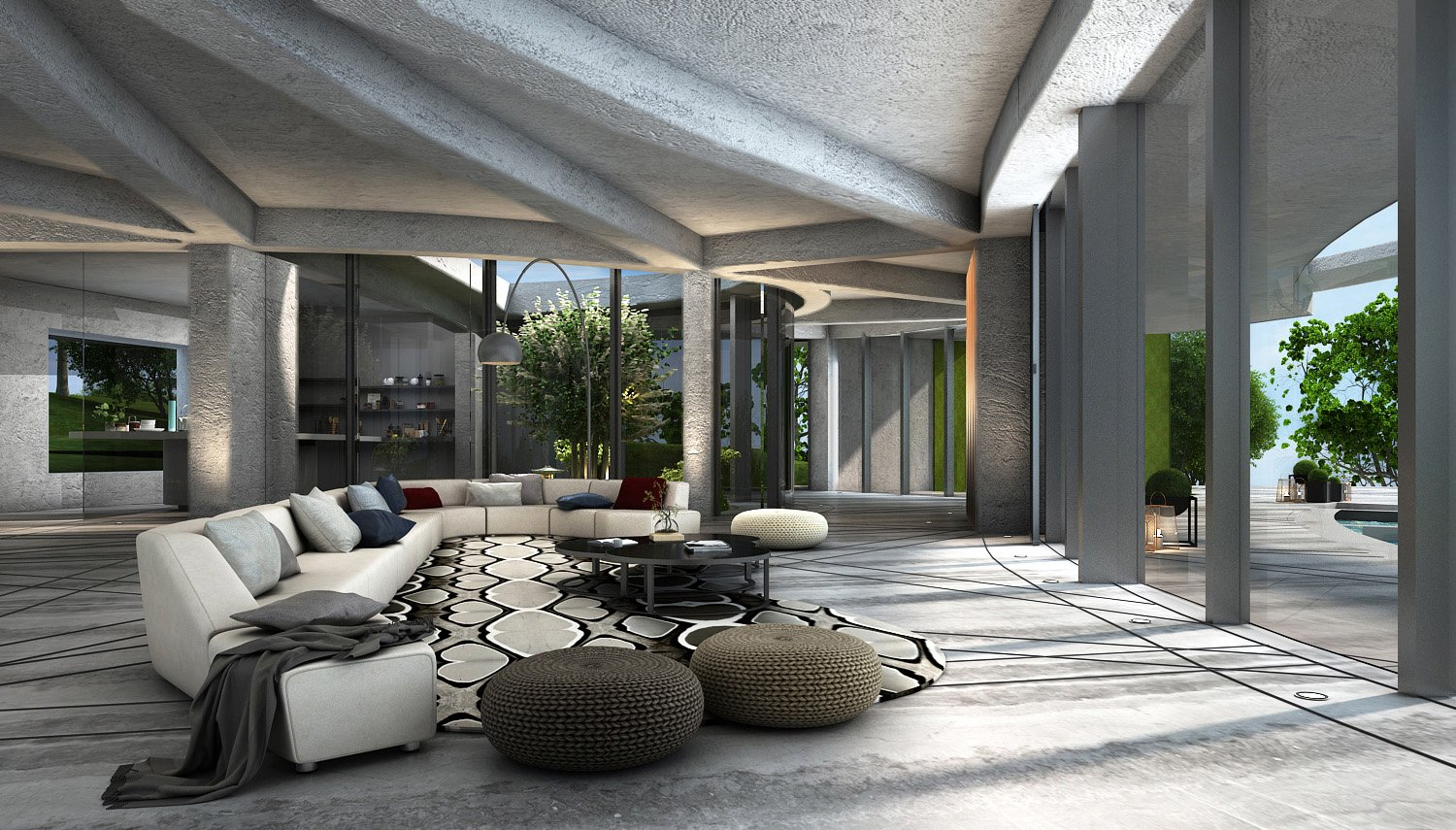 FORMAL LIVING AREA KNS ARCHITECTS