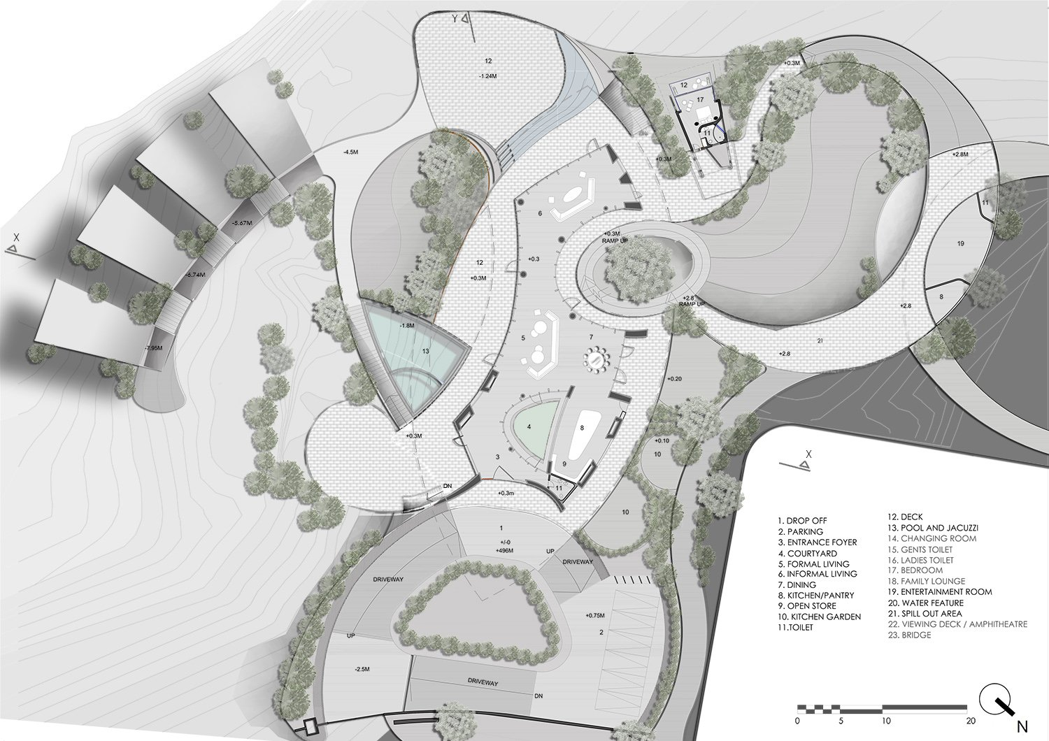 GROUND LEVEL PLAN KNS ARCHITECTS}