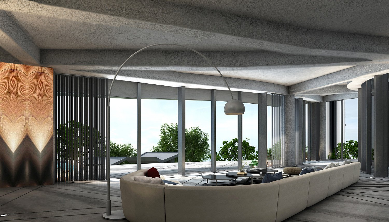 VIEW FROM THE FORMAL LIVING AREA LOOKING TOWARDS THE VALLEY KNS ARCHITECTS