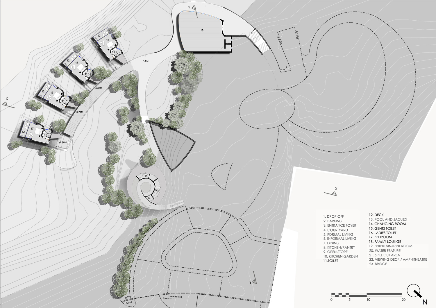 LOWER GROUND LEVEL PLAN KNS ARCHITECTS}