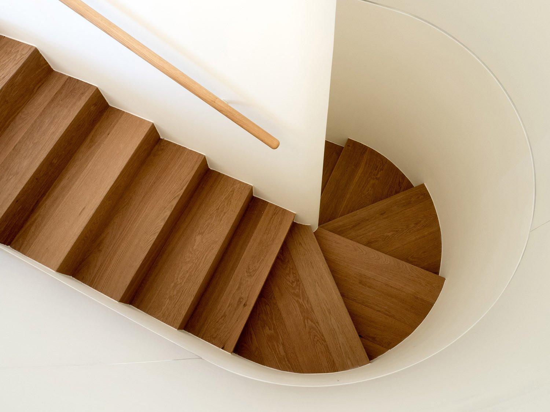 p+f_villa, wooden staircase giulio ghirardi