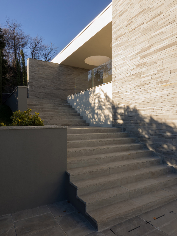 p+f_villa, external stone stairway giulio ghirardi