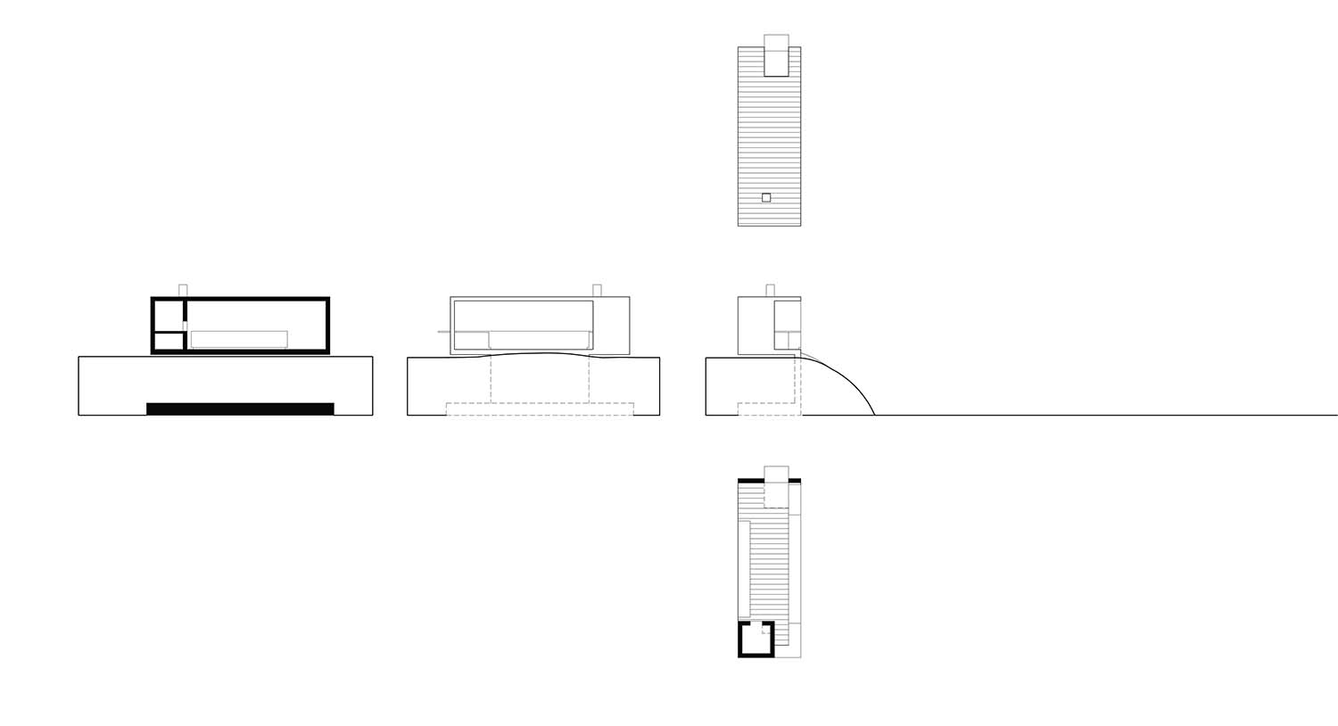 Outdoor kitchen (pavilion): plan, sections and facades Lina Malfona}