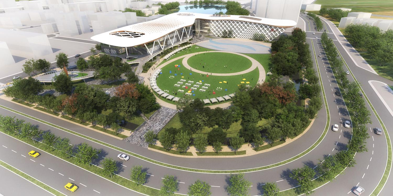 bird view of amphitheater J.A.Chen Architects & Associates