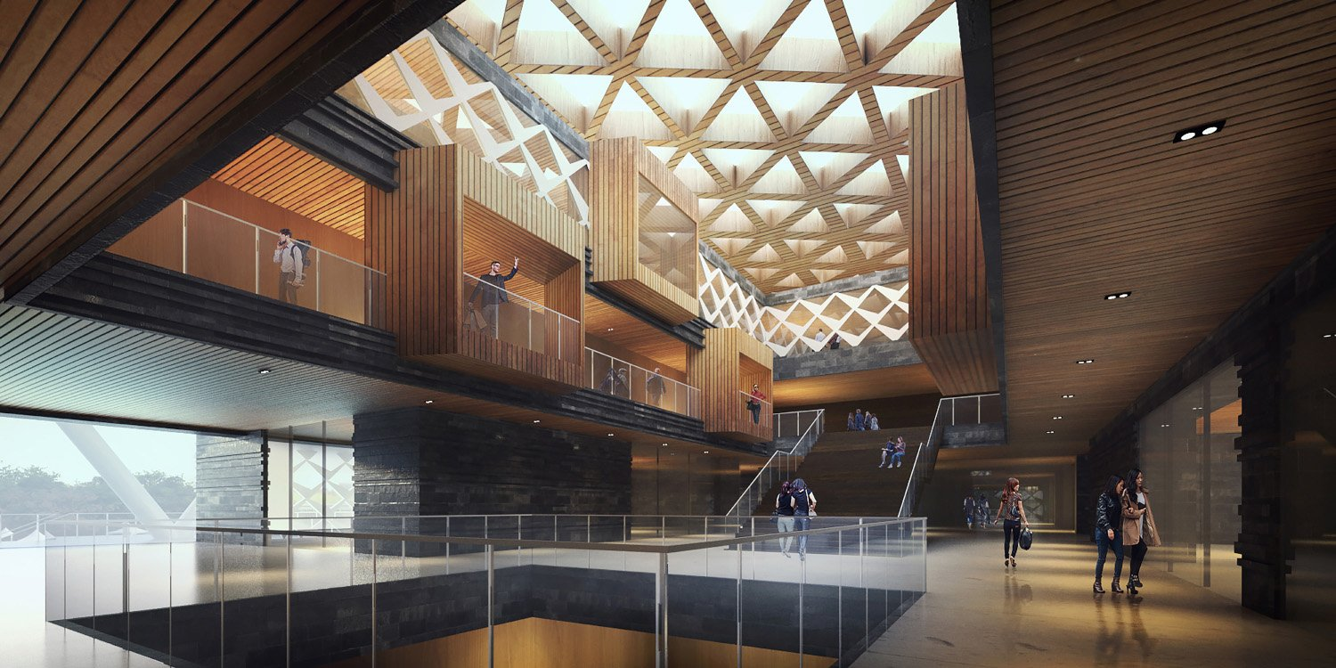 interior of cultural center J.A.Chen Architects & Associates